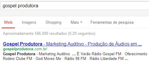 Gospel no Google